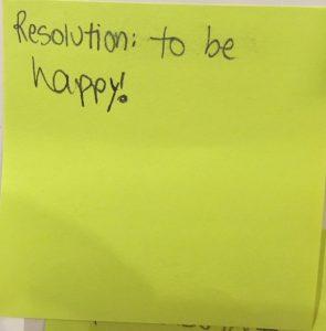 NY Resolution: to be happy!