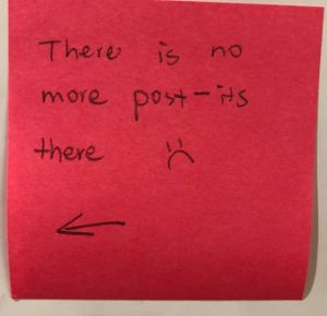 There is no more post-its there