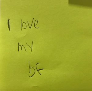 I love my bf
