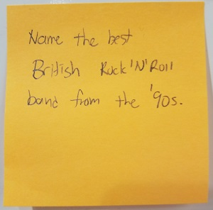Name the best British Rock 'N Roll band from the '90s  – The