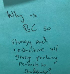 Why is BC so stingy and restrictive w/ giving parking permits to students?