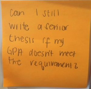 Can I still write a senior thesis if my GPA doesn't meet the requirement?