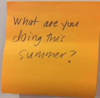 What are you doing this summer? – The Answer Wall