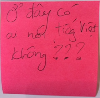 Is there anybody speaking Vietnamese here? – The Answer Wall