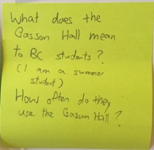 What does the Gasson Hall mean to BC students? (I am a summer student.) How often do they use the Gasson Hall?