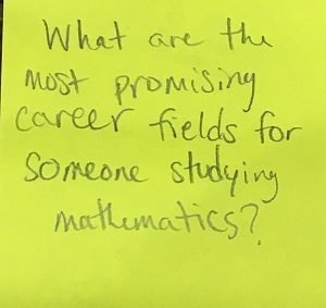 What are the most promising career fields for someone studying mathematics?