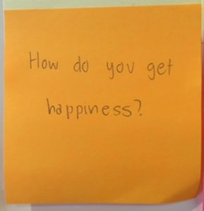 How do you get happiness?