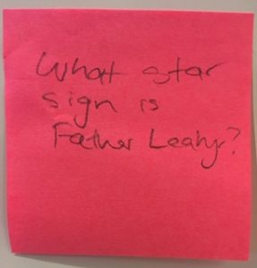 What star sign is Father Leahy?