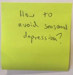 How to avoid seasonal depression?