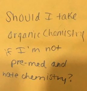 Should I take organic chemistry if I'm not pre-med and hate chemistry?