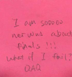 I am sooooo nervous about finals!!! What if I fail? QAQ