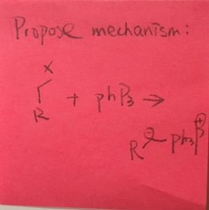 Propose mechanism (chemical equation)