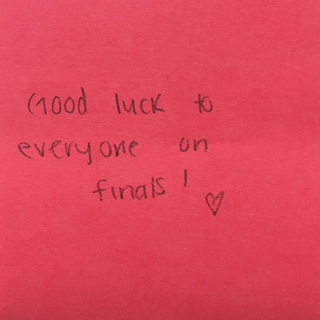 Good Luck Everyone >> Good Luck To Everyone On Finals The Answer Wall