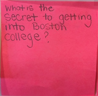 What is the secret to getting into Boston College?