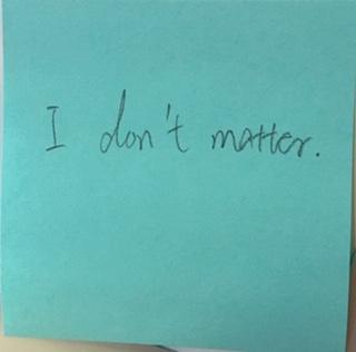 I don't matter.