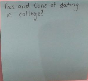 Dating in college pros and cons