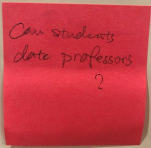 Can students date professors?
