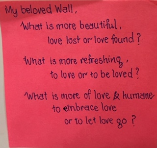 My beloved Wall… – The Answer Wall