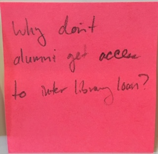 Why don't alumni get access to inter library loan?