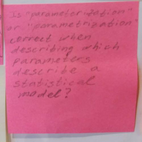 "Is ""parameterization"" or ""parametrization"" correct when describing which parameters describe a statistical model?"
