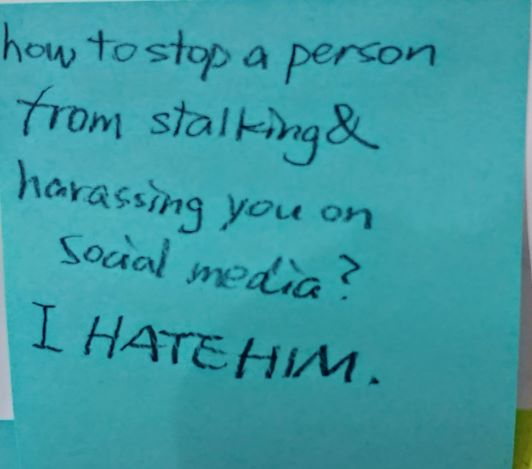 How to stop a person from stalking & harassing you on social media? I HATE HIM.