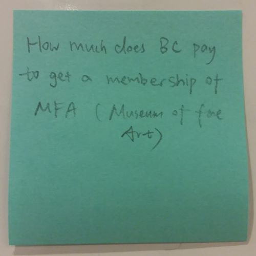 How much does BC pay to get a membership of MFA (Museum of Fine Art)