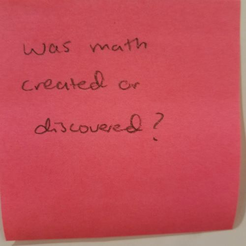 Was math created or discovered?