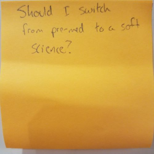 Should I switch from pre-med to a soft science?