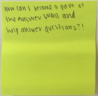 How can I become a part of the Answer Wall and help answer questions?!