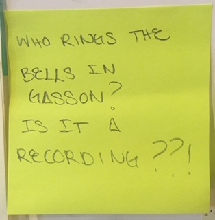 Who rings the bells in Gasson? Is it a recording??!