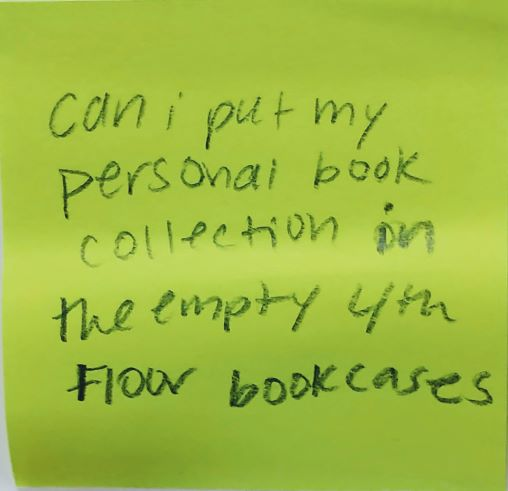 Can I put my personal book collection in the empty 4th floor bookcases