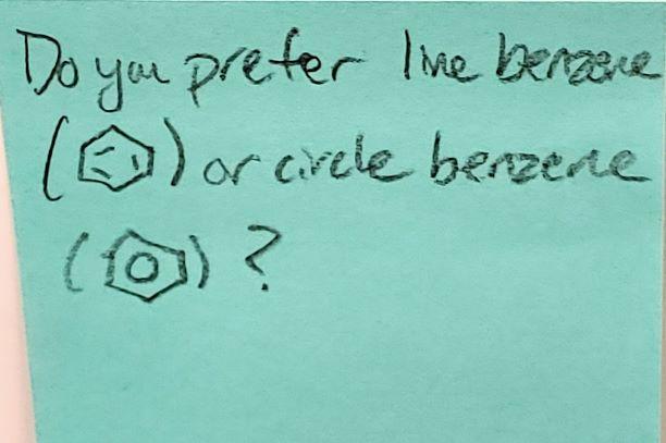 Do you prefer line benzene or circle benzene