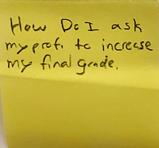 How do I ask my prof to increase my final grade.