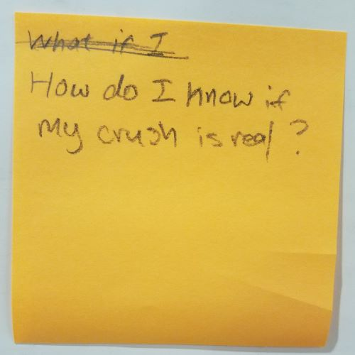 How do I know if my crush is real?