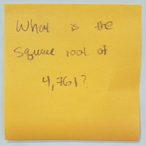 What is the square root of 4,761?