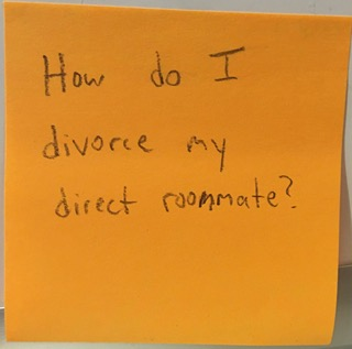 How do I divorce my direct roommate?