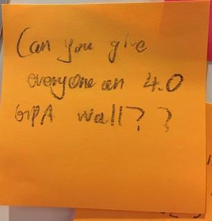 Can you give everyone a 4.0 GPA Wall??