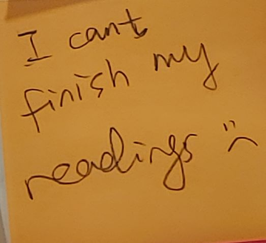 I can't finish my readings :(