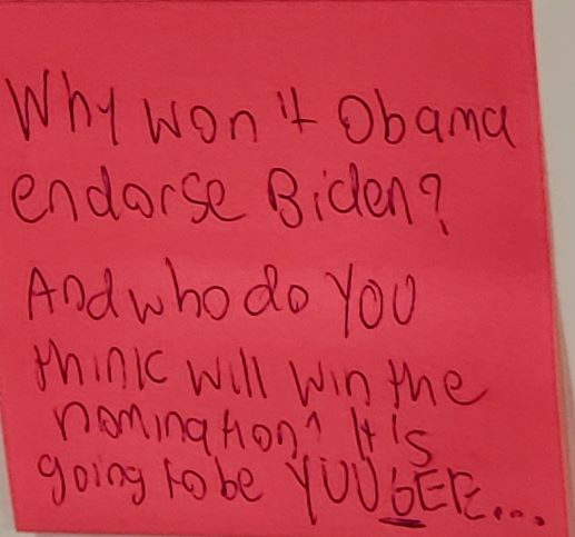 Why won't Obama endorse Biden? And who do you think will win the nomination? It is going to be YUUGEE...