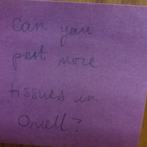 Can you put more tissues in O'Neill?