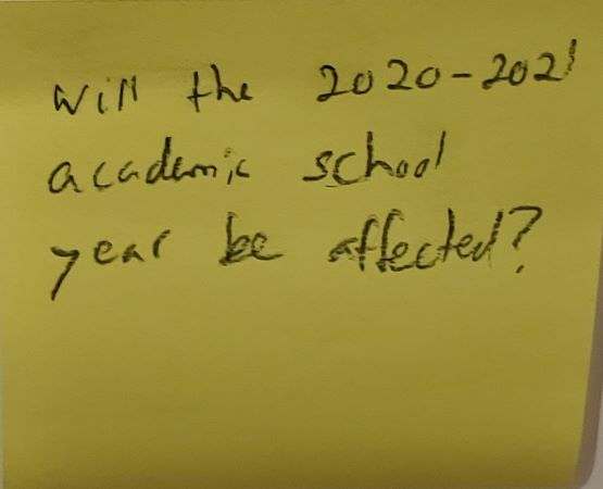 Will the 2020-2021 academic school year be affected?
