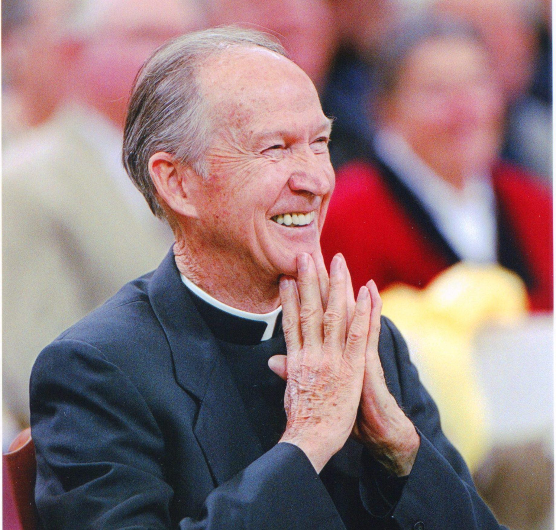 Close-up of Fr. Monan