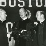 Fr. Monan with George H. W. Bush and Paul A. Fitzgerald in 1982