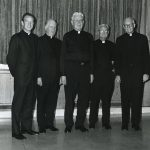 Group portrait of Jesuits at Jubilee Day of Boston College, 1973
