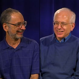 Professors Avner Ash & Robert Gross during their interview