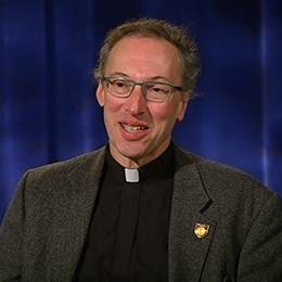 Father Stegman during his interview