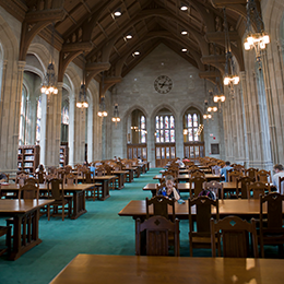 Gasson Hall in Bapst Library