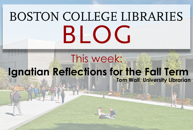 Reads This week: Ignatian Reflections for the Fall Term, by Tom Wall, University Librarian.
