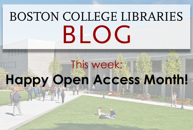 Happy Open Access Month!