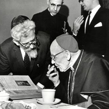 Photo of Jesuits meeting with a Rabbi